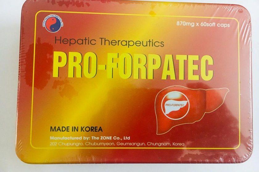 Thuốc bổ gan Pro Forpatec là thuốc gì?