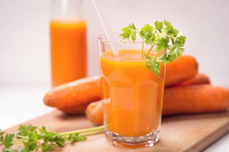 Nước ép giảm cân cà rốt